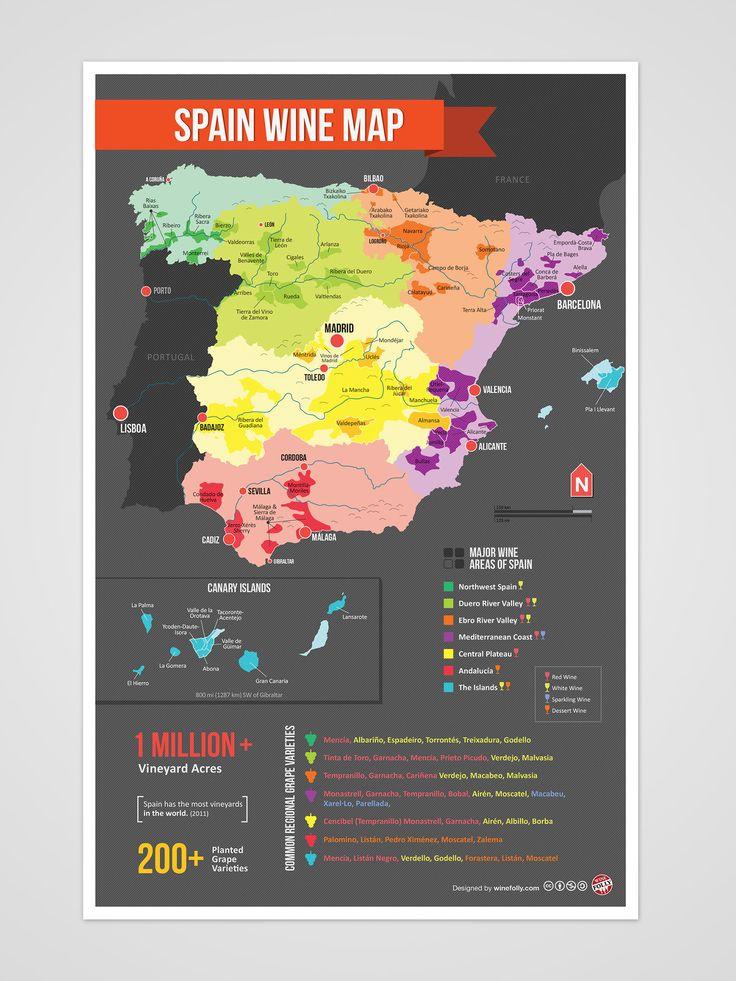 Spain Wine Region Map wine / vinho / vino mxm http://www.yourwinecellar.org