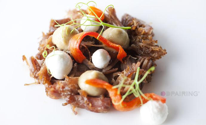 Straffe+Hendrik+Heritage+-+oxtail+-+goat+cheese+-+aubergine+-+miso+-+bell+pepper
