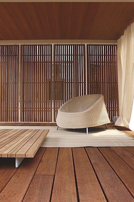 Furniture of Paola Lenti designed by Francesco Rota, Barcelona, Spain.