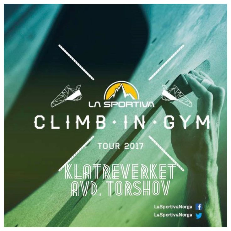 "115 likerklikk, 2 kommentarer – La Sportiva Norge (@lasportivanorge) på Instagram: ""Today is the last day of Climb In Gym Tour 2017 and we will be at Klatreverket AVD. Torshov - Oslo…"""