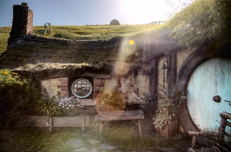 Hobbiton, Shire in New Zealand, 2012 / Хоббитон, Шир в Новой Зеландии 2012.  Хоббитский дом - nz_hobbiton_IMG_8753_4_5_tonemapped