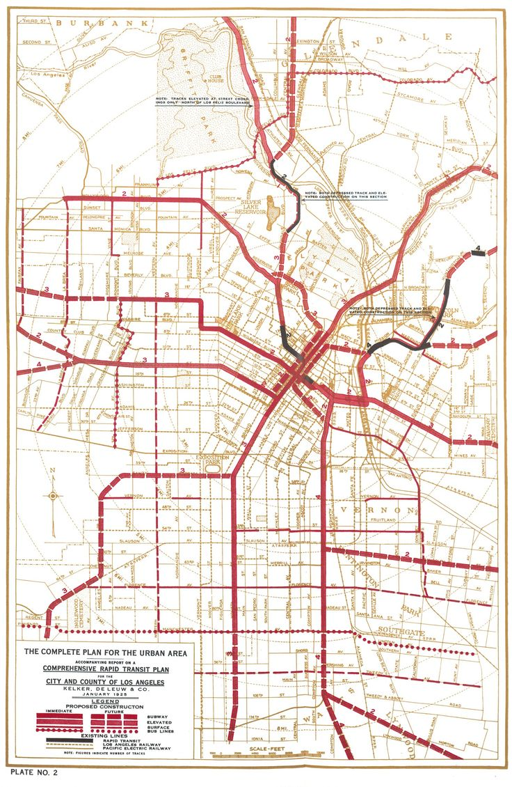 Best Transit Maps Images On Pinterest - Los angeles map silver lake