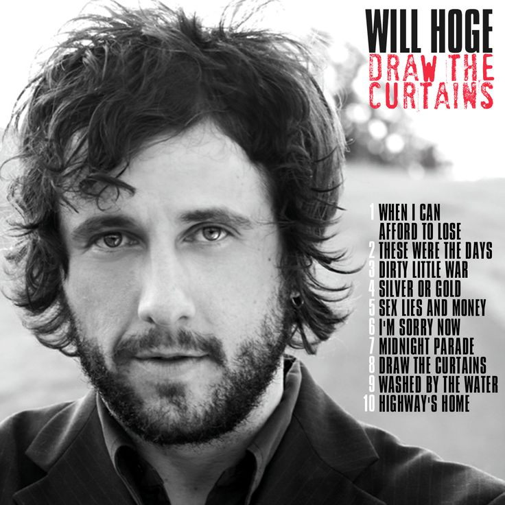 WILL HOGE - Draw the curtains CD COVER