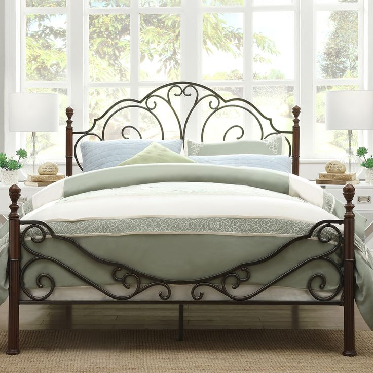 Give your room a victorian feel with this ornate poster bed.