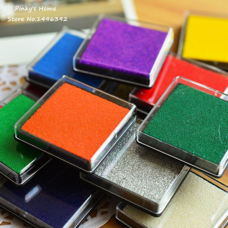 Lucu Cat Air Berbasis Minyak DIY Bantalan Tinta untuk Stempel Karet Inkpad Craft Scrapbook Dekorasi Pernikahan Jari Pencetakan Set Stasioner