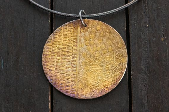 Gold and Silver Disk by celiefago on Etsy