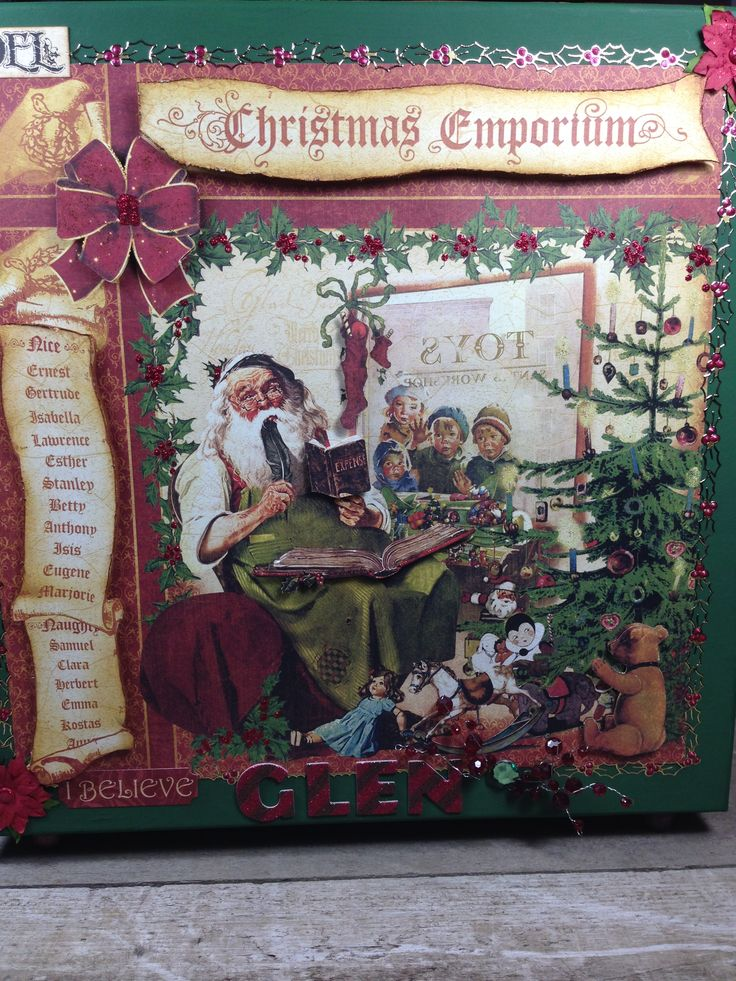 Graphic45 advent calendar made by @Above Parr Crafts #Christmas