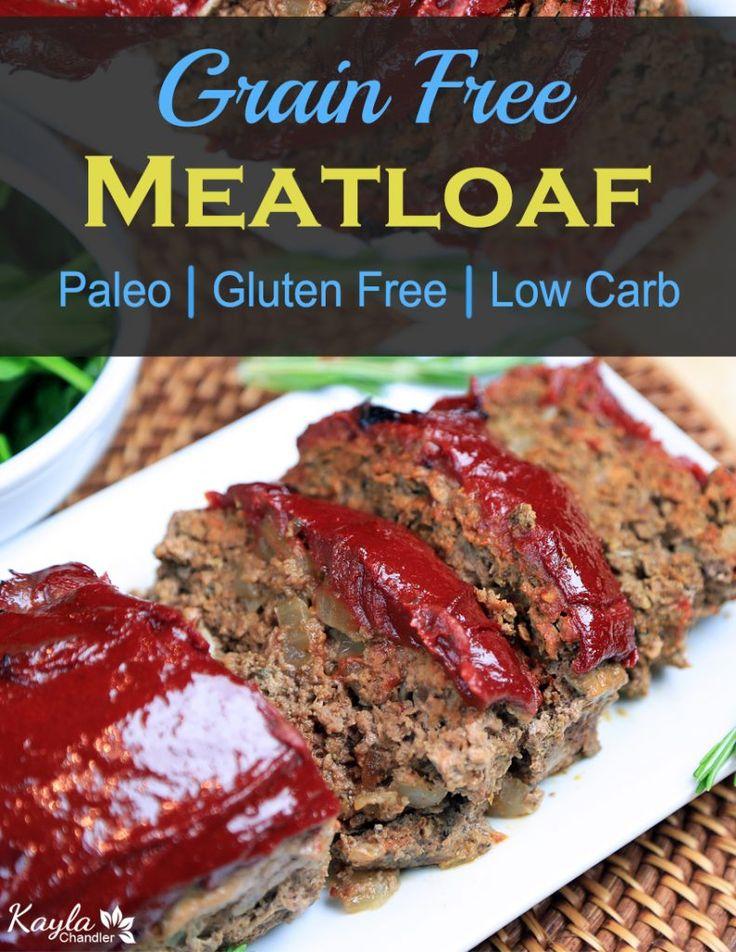 Meatloaf. Gluten free. Paleo. Low carb.