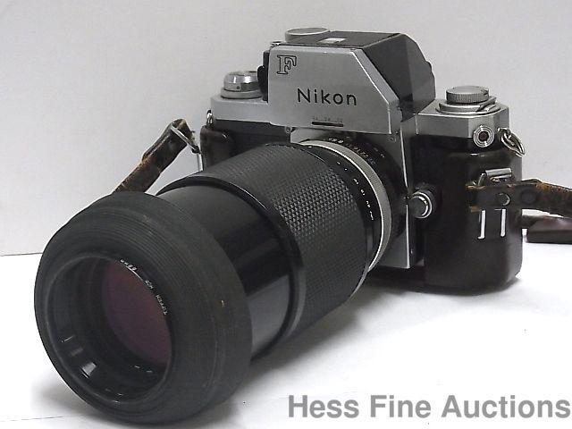 Nikon F 698360 Vintage Camera with 1:4.5 f80 200 152307 Tiffen 52mm Lens #Nikon