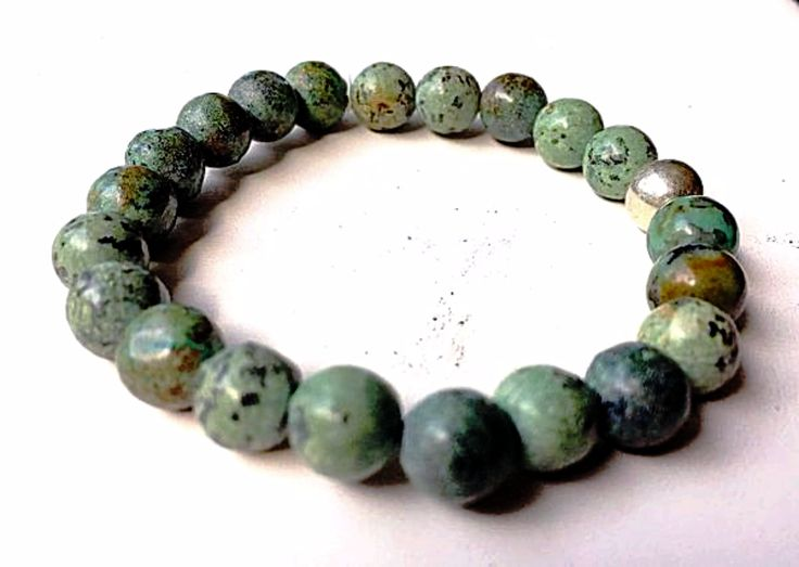 African Turquoise Power Bracelet 8mm   New Earth Gifts