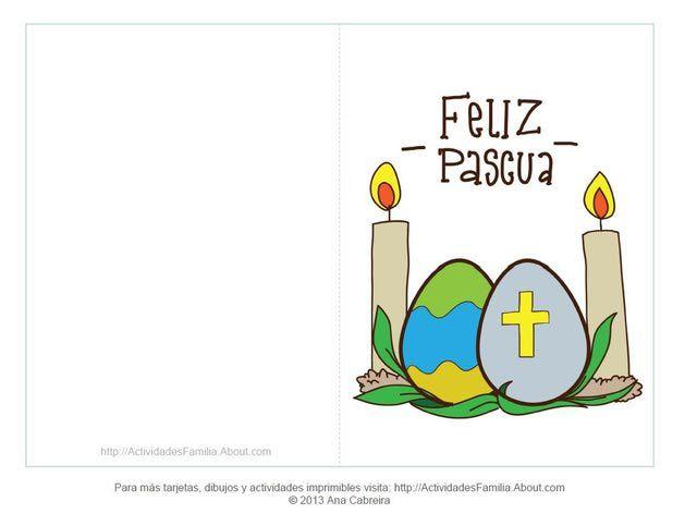 Tarjetas de felices pascuas: Tarjeta con huevos de pascua