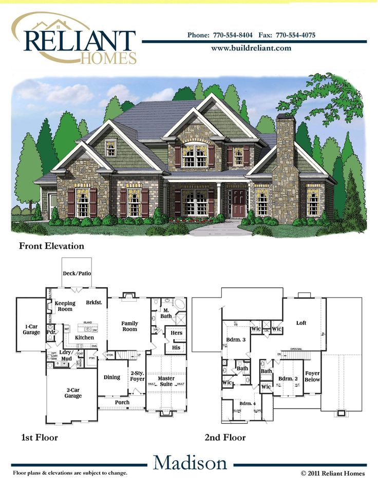 reliant homes the madison plan floor plans homes homes for sale - Floor Plans For Homes