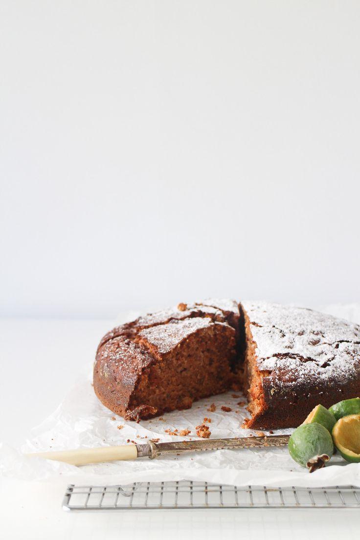 Feijoa and Walnut Cake