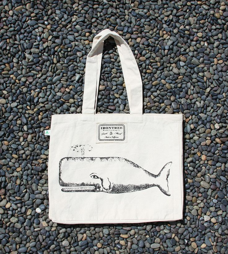 The Great Whale Organic Canvas Tote Bag