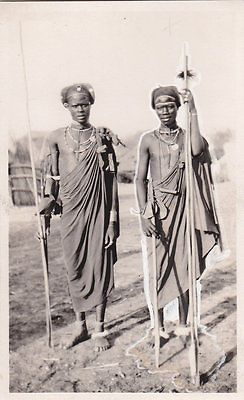 CARTOLINA AFRICA SUDAN GIOVANI GUERRIERI COLONIALE