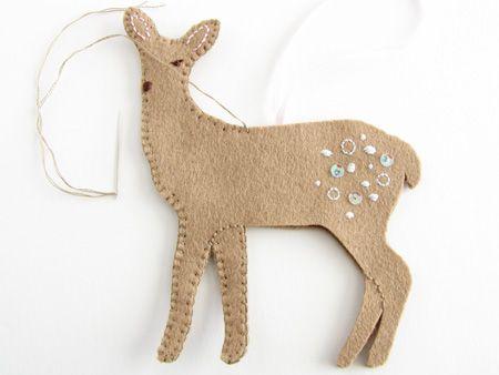 73 best Animal Ornaments | Deer images on Pinterest | Christmas ...