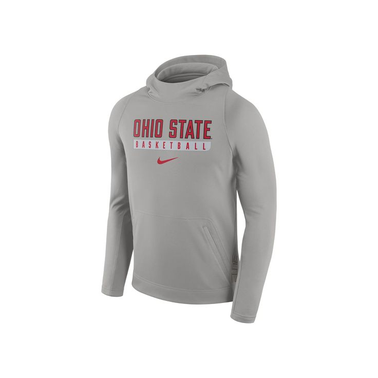 Men's Nike Ohio State Buckeyes Basketball Fleece Hoodie, Size: Medium, Grey Other