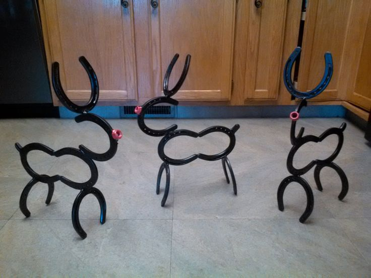 Horse shoe reindeer by Ryansweldworks on Etsy