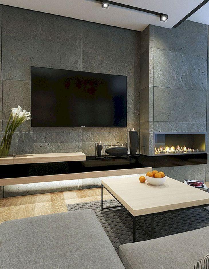 17 I Migliori Design Per La Decorazione Domestica Con Pensili Tv A Parete Fireplace Design Modern Fireplace House Design