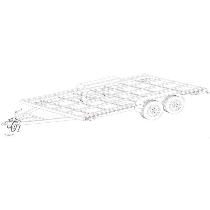 8′ x 16′ Tiny House Trailer Plans – Blueprints – Model 16THF - Johnson Trailer Parts, Platform for Tiny House Construction. Features: 8' Wide Frame, Can be built wider, Ready for Flooring and Wall Plates. Strong Runners Front to Rear. Leveling Jacks. Full Bill of Material, Eight Simple Steps to Build. Each Step has Cut List.