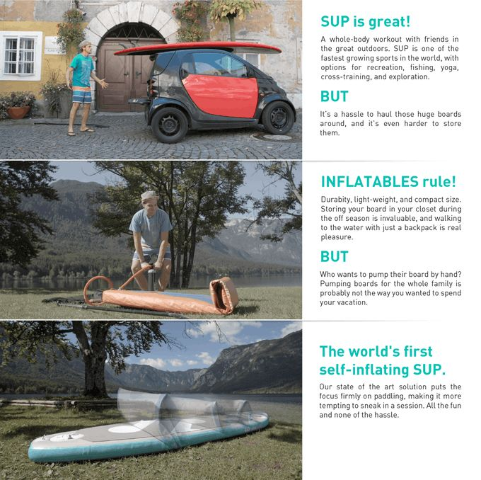 The SUP revolution: Self-inflating SipaBoards Air | Indiegogo