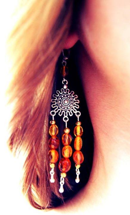 Amber earrings :)