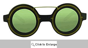 Derby Round Mirrored Sunglasses - 583 Gold