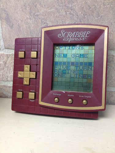 Scrabble express Electronic Handheld Word Stragedy Game Travel Pocket