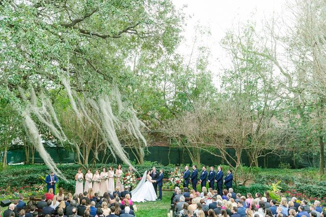 Garden Ceremony At Thomas Bennett House Thomas Bennett House Charleston Wedding Photographer Daniel Island Club