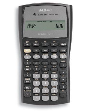 Texas Instruments Calculator Black Financial calculators