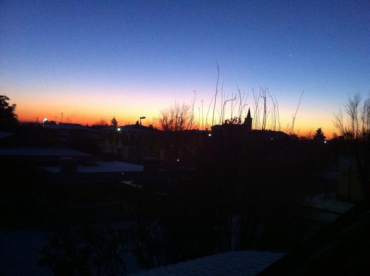 Amazing sunrise in Dello, Brescia, Italy