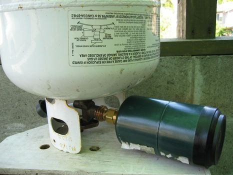 How to refill disposable propane cylinders
