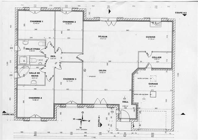 Plan de maison en bois gratuit plain pied 1 plan de maison for Application plan de maison