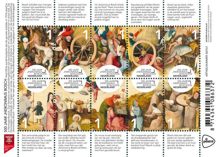 500 Jaar Jheronimus Bosch - Officiële uitgifteprogramma - Postzegels