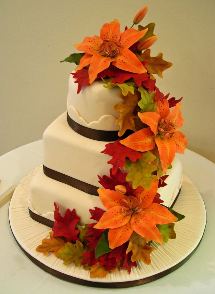 wedding cake fall colors 20 best images about autumn wedding cakes on 22591