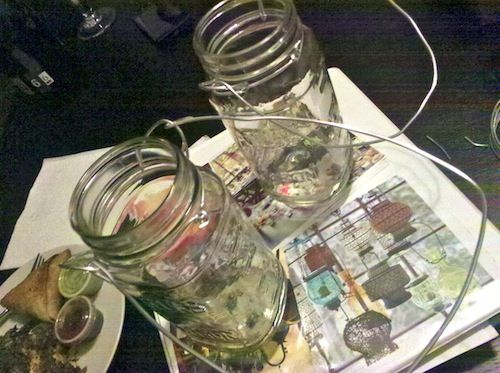 How to make hanging Mason Jar tealight holders | Offbeat Bride