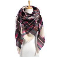 Winter Scarf Plaid Scarf Designer Unisex Acrylic Basic Shawls Women's Scarves S-VarietyStore