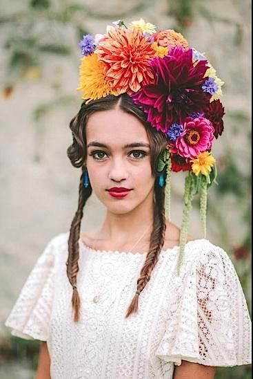 Day of the Dead Headpiece, Frida Headpiece, Mexican Flower ...