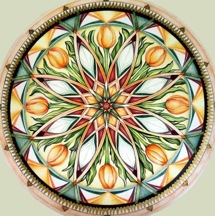 ⊰❁⊱ Mandala ⊰❁⊱ Tulip Mandala от hollizollinger на Etsy