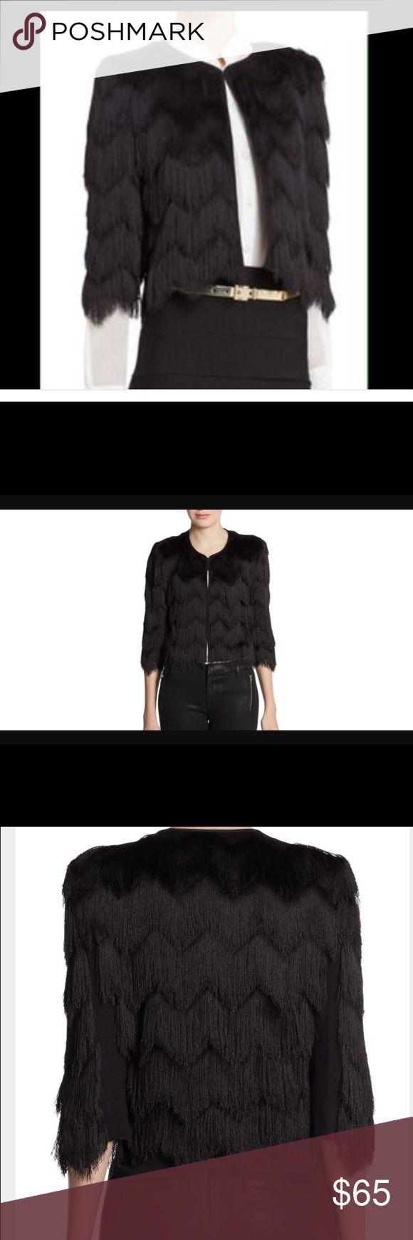 bLack jacket Black jaxon feathery black jacket, BCBGMaxAzria Jackets & Coats