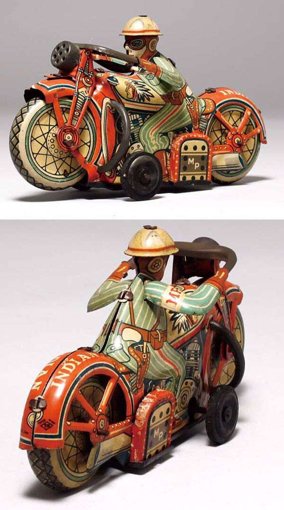 Indian tin motorcycle