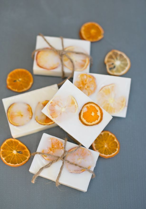 sabonete com laranja desidratada