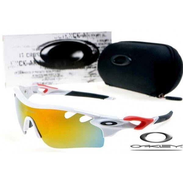 $13 - Cheap oakley free shipping radarlock path sunglasses white / fire iridium for sale