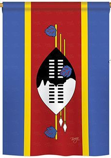 Swaziland 2-Sided Vertical Flag