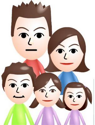 Framing a Mii family portrait for decor at a Wii bowling party