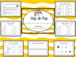Hop on Pop Rhyming Activity Pack {a blog freebie}  This might be just the thing for letter Oo next week!