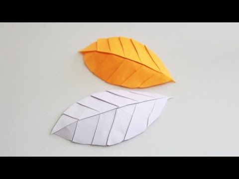 How to make an origami leaf (Henry Phạm) - YouTube