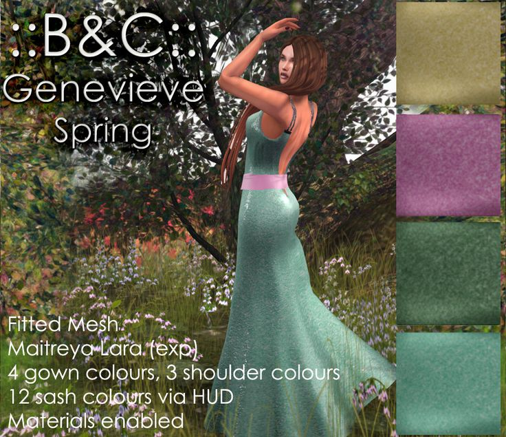 https://flic.kr/p/TM8S72 | ::B&C:: Genevieve Spring for RFLofSL2017 | Exclusive spring palette for sale only at Fantasy Faire 2017. 100% of profits go to Rfl of SL 2017
