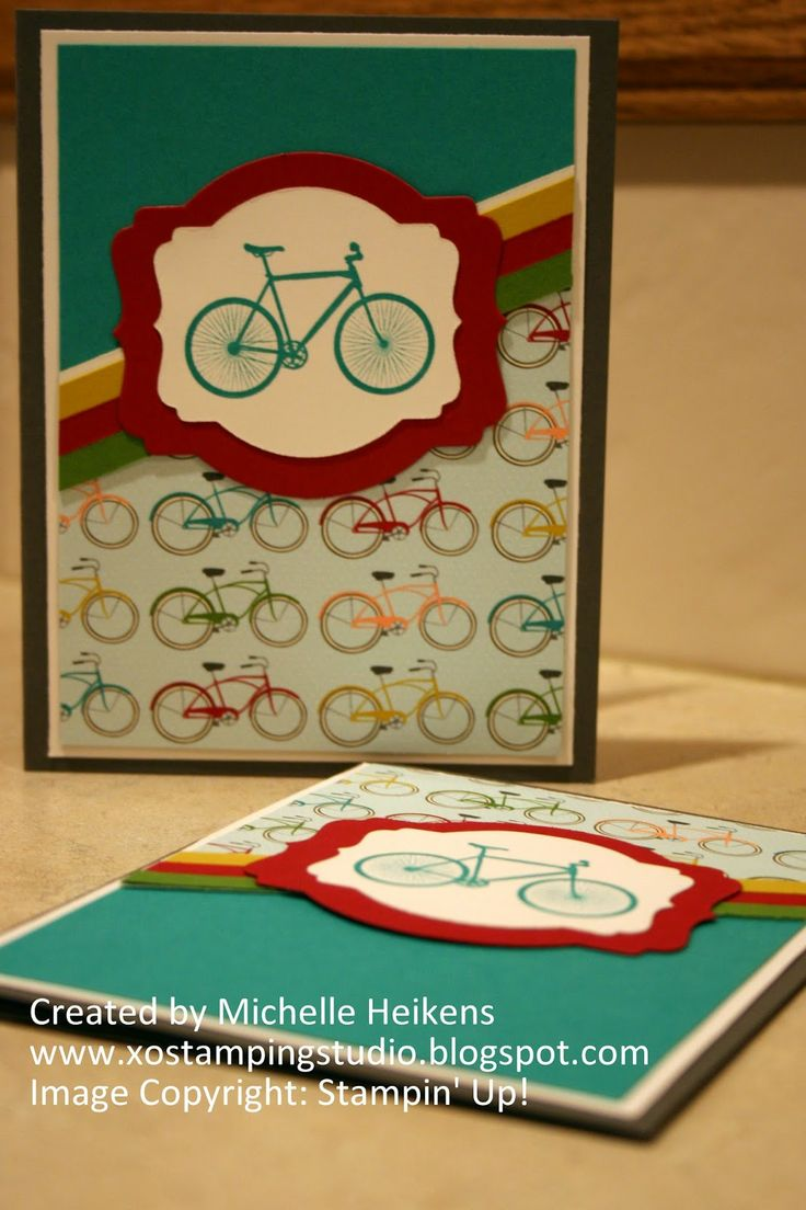My Paper Pumpkin's Repurposed Bicycle Stamp - SU! - Stampin' Up! - www.xostampingstudio.blogspot.com - Michelle Heikens
