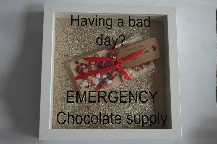 """Picture Frames """"Having A Bad Day...."""" chocolate bar frame by DigbysStore on Etsy"""